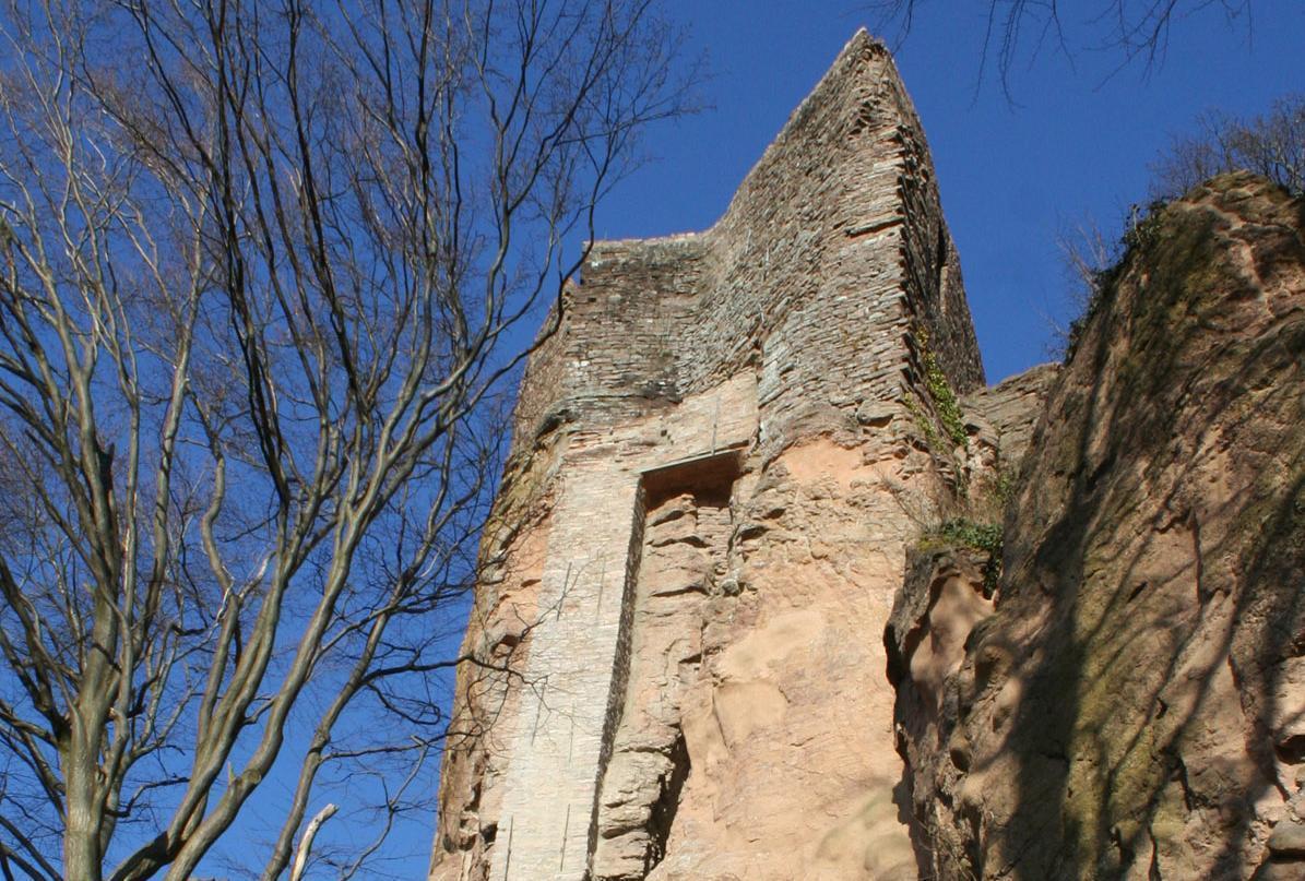 Detail der Burg Alt-Eberstein; Foto: Staatliche Schlösser und Gärten Baden-Württemberg, Sandra Eberle
