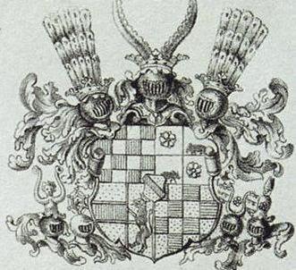 Wappen der Markgrafen von Baden, Lithografie um 1820