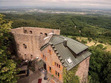Burg Alt-Eberstein, Ausblick von oben