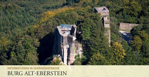 """Startbildschirm des Filmes """"Burg Alt-Eberstein: Informationen in Gebärdensprache"""""""